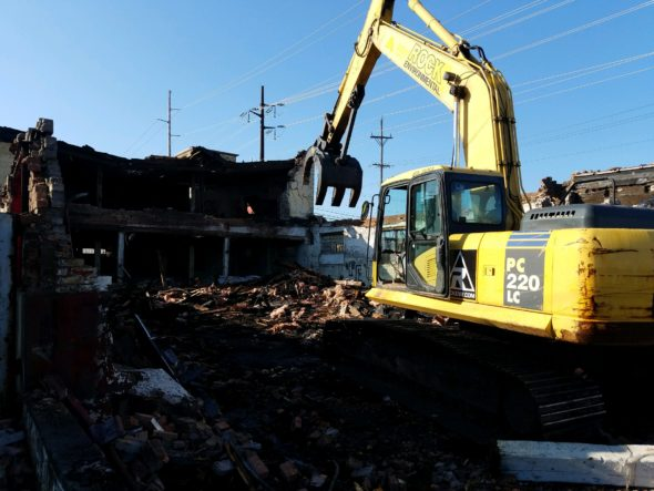Building demolition performed by Rock Emergency