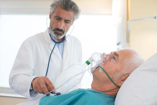 Elderly patient with respiratory problems