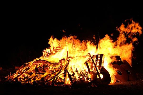 large bon fire