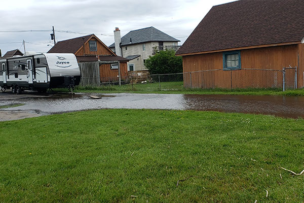 Flooded Yard causing Flooded Basement