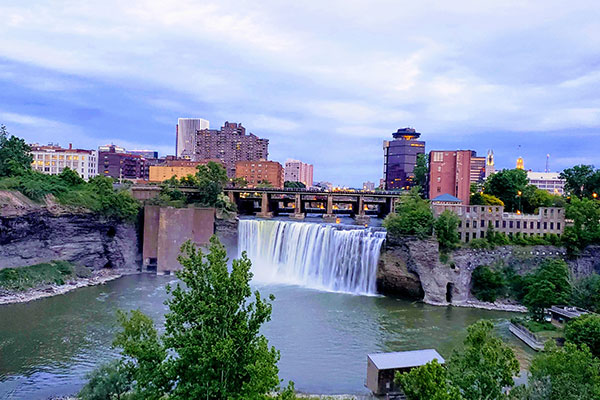 Genesee River in Rochester, NY