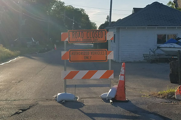 Road Closed due to Flooded Basements