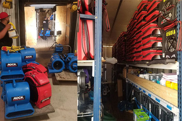 storm damage water equipment used by Emergency Response Team