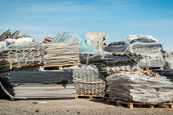 asbestos-roofing-materials-in-a-landfill