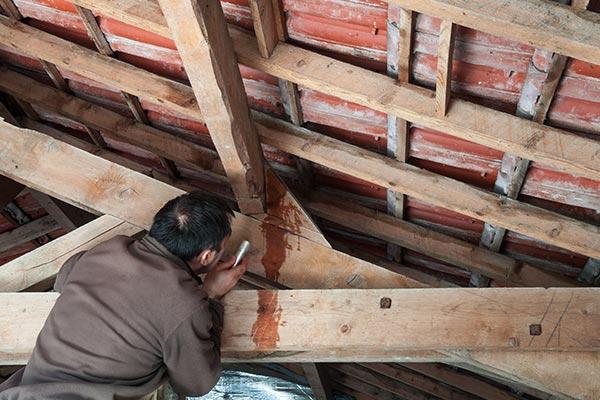 Leaking roof causing Winter water damage