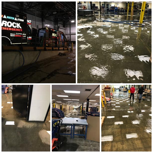 Business with water damage