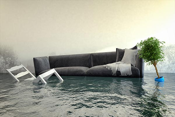 Flooded-couch